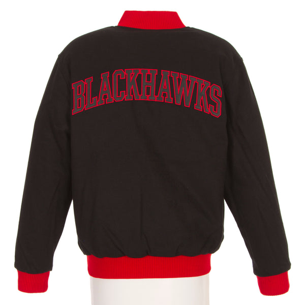 Chicago Blackhawks Reversible Wool Jacket