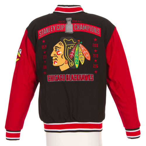 Chicago Blackhawks Championship Reversible Wool Jacket