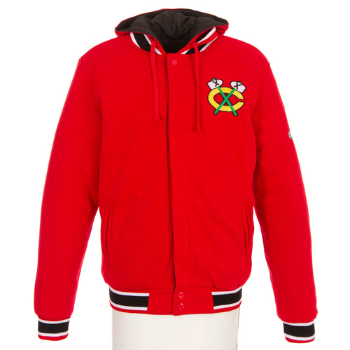 Chicago Blackhawks Championship Reversible Fleece Jacket
