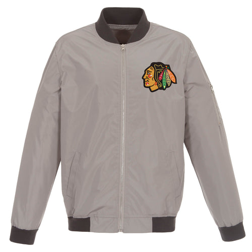 Chicago Blackhawks Nylon Bomber Jacket