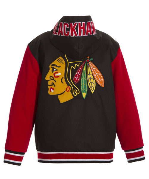 Chicago Blackhawks Kid's Reversible Poly-Twill Jacket