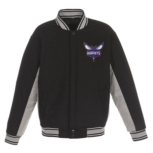 Charlotte Hornets Reversible Wool Jacket (Front Logos Only)