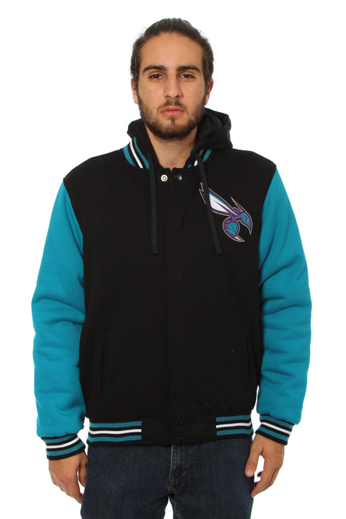 Charlotte Hornets Reversible Two-Tone Fleece Jacket