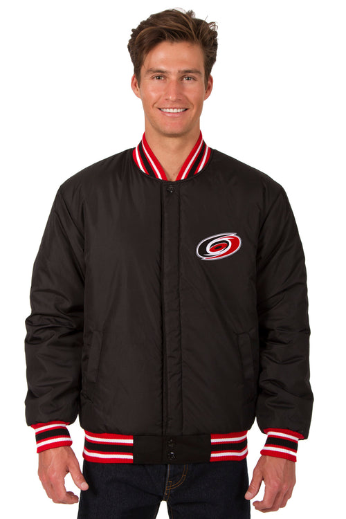 Carolina Hurricanes All-Wool Reversible Jacket (Front Logos Only)