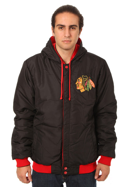Chicago Blackhawks Reversible Fleece Jacket