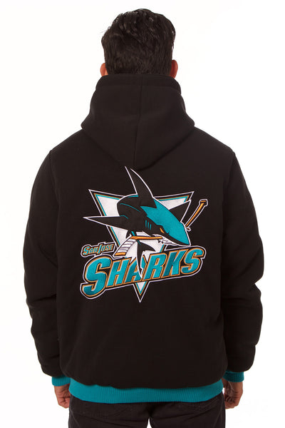 San Jose Sharks Reversible Fleece Jacket