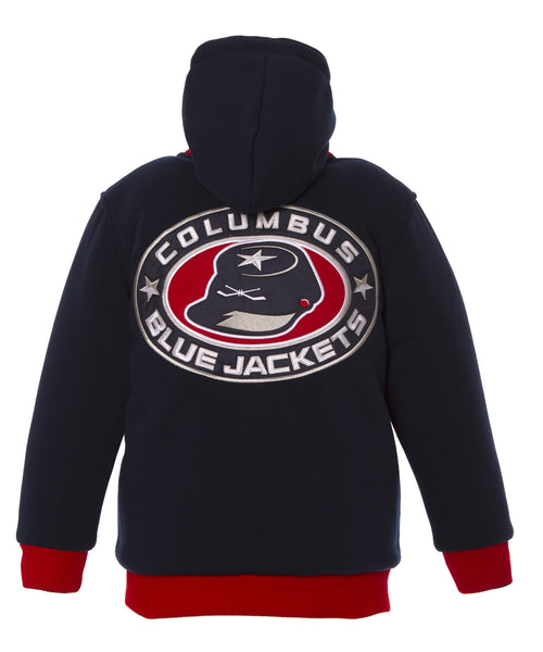 Columbus Blue Jackets Kid's Reversible Fleece Jacket