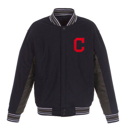 Cleveland Indians Reversible Wool Jacket
