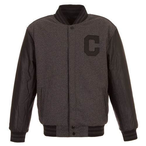 Cleveland Indians Reversible Wool and Faux Leather Jacket