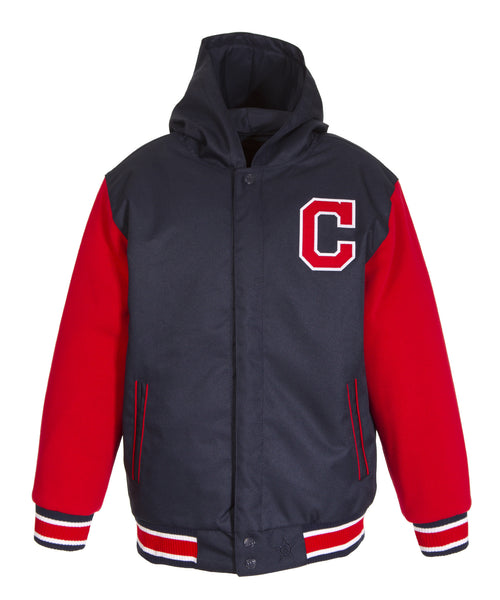 Cleveland Indians Kids Reversible Poly-Twill Jacket