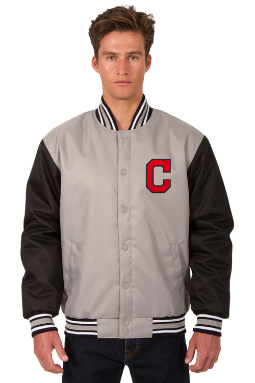 Cleveland Indians Poly-Twill Jacket (Front Logo Only)