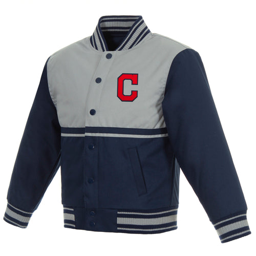 Cleveland Indians Kids Poly-Twill Jacket