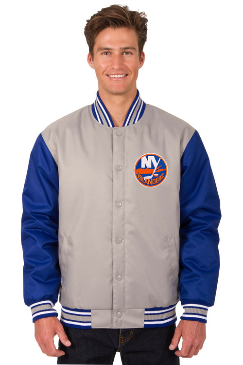 New York Islanders Poly-Twill Jacket (Front Logo Only)