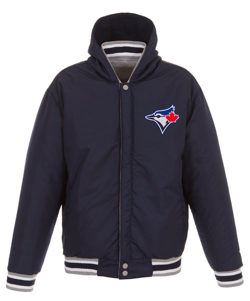 Toronto Blue Jays Reversible Fleece Jacket with Faux Leather Sleeves