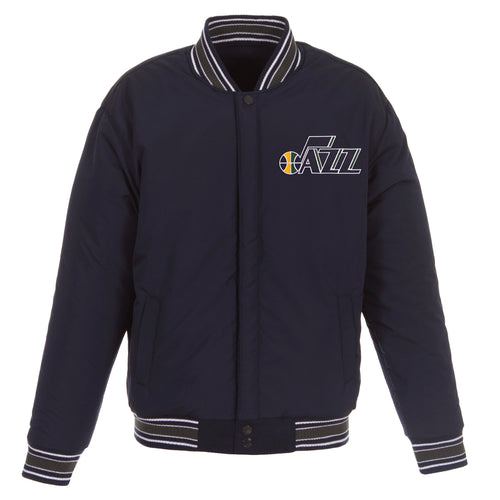 Utah Jazz Reversible Wool Jacket (Front Logos Only)