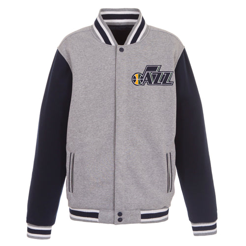 Utah Jazz Reversible Fleece Jacket (Front Logos Only)