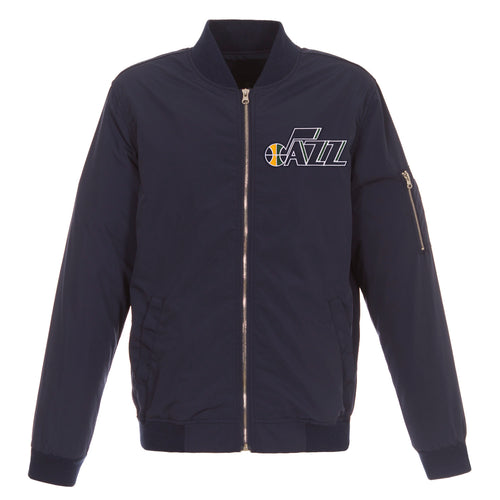 Utah Jazz Nylon Bomber Jacket