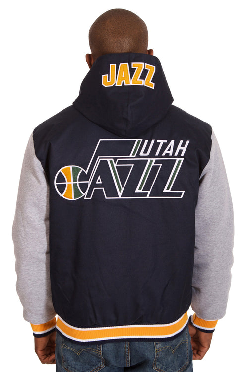 Utah Jazz Reversible Poly-Twill Jacket