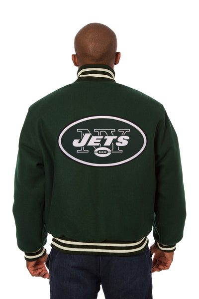 New York Jets Embroidered Wool Jacket