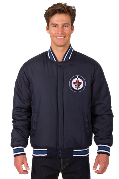 Winnipeg Jets All-Wool Reversible Jacket (Front Logos Only)