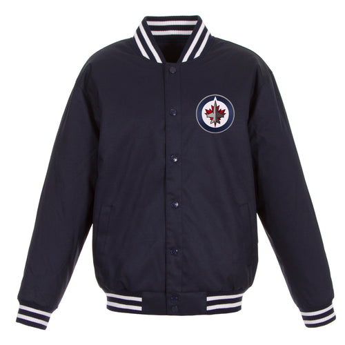 Winnipeg Jets Poly-Twill Jacket (Front Logo Only)