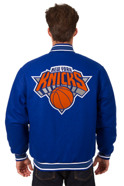 New York Knicks Reversible All-Wool Jacket (Front and Back Logos)
