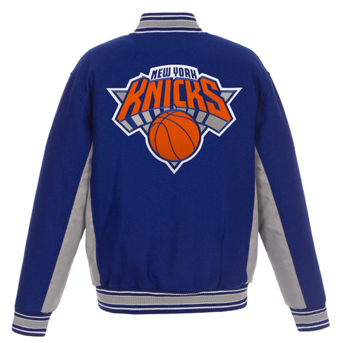 New York Knicks Reversible Wool Jacket (Front and Back Logos)