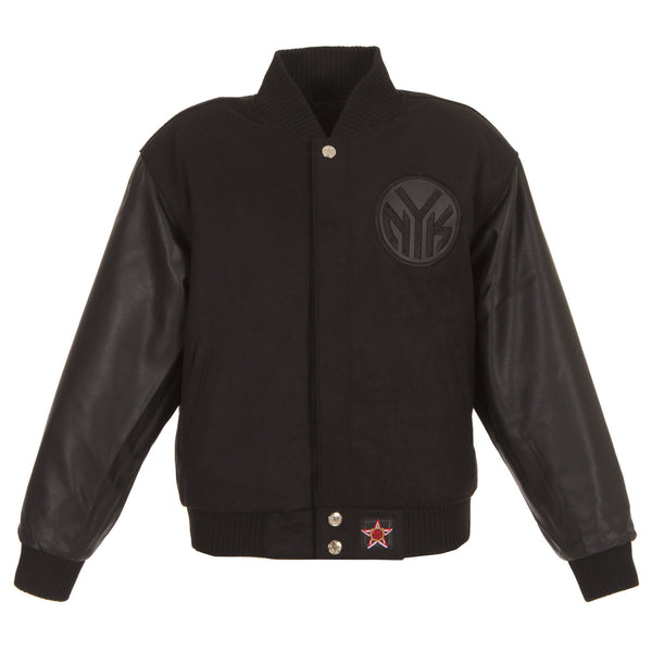 New York Knicks Kid's Reversible Wool and Faux Leather Jacket