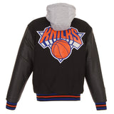 New York Knicks Wool and Faux Leather Leather Jacket