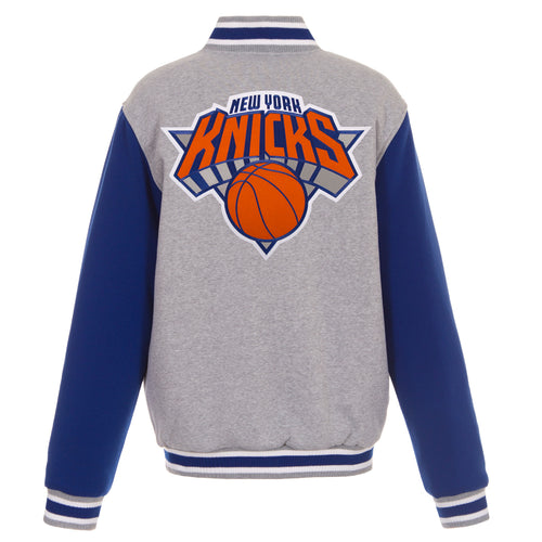 New York Knicks Reversible Fleece Jacket (Front and Back Logos)