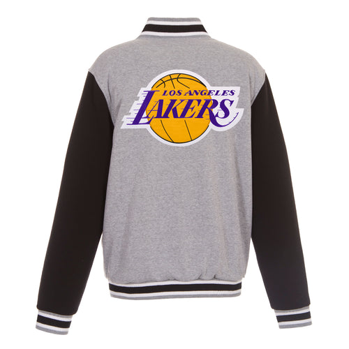 Los Angeles Lakers Reversible Fleece Jacket (Front and Back Logos)