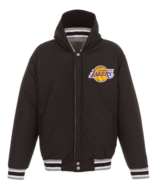 Los Angeles Lakers Reversible Fleece and Faux Leather Jacket