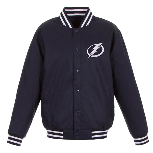 Tampa Bay Lightning Poly-Twill Jacket (Front Logo Only)