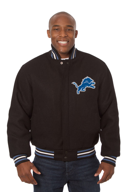 Detroit Lions Embroidered Wool Jacket