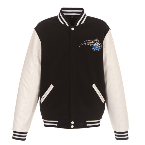 Orlando Magic Reversible Fleece and Faux Leather Jacket (Front Logos Only)