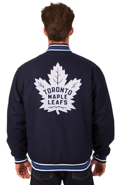 Toronto Maple Leafs All-Wool Reversible Jacket (Front and Back Logos)