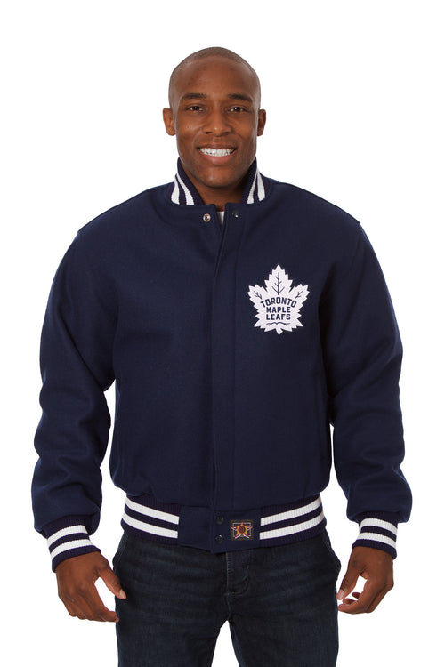 Toronto Maple Leafs Embroidered Wool Jacket