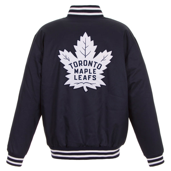 Toronto Maple Leafs Poly-Twill Jacket (Front and Back Logo)