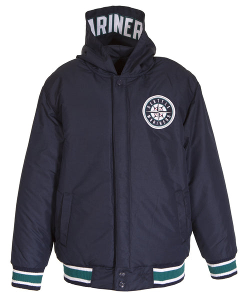 Seattle Mariners Kid's Reversible Poly-Twill Jacket