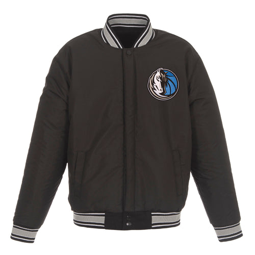 Dallas Mavericks Reversible Wool Jacket (Front Logos Only)
