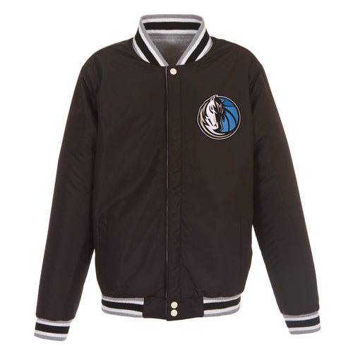 Dallas Mavericks Reversible Fleece Jacket (Front Logos Only)