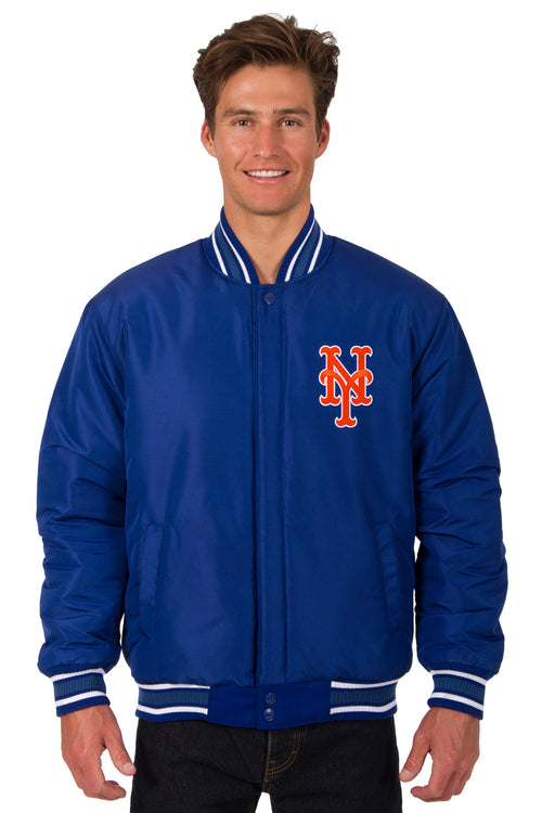 New York Mets All-Wool Reversible Jacket (Front Logos Only)