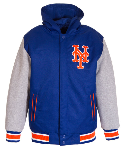 New York Mets Kids Reversible Poly-Twill Jacket