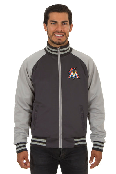 Miami Marlins Reversible Polyester Track Jacket