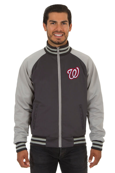 Washington Nationals Reversible Polyester Track Jacket
