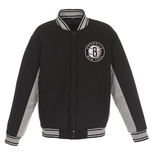 Brooklyn Nets Reversible Wool Jacket (Front Logos Only)