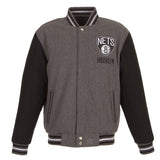 Brooklyn Nets Two-Tone Reversible Wool Jacket