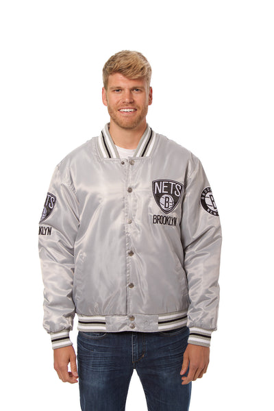 Brooklyn Nets Matte Satin Jacket