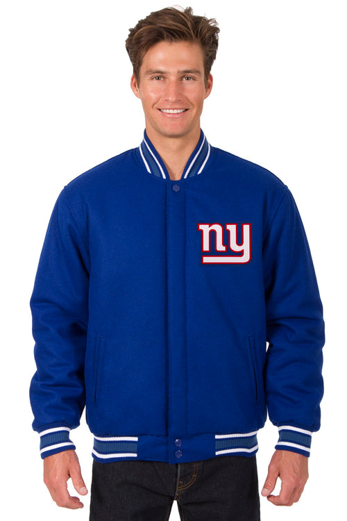 New York Giants All-Wool Reversible Jacket (Front and Back Logos)
