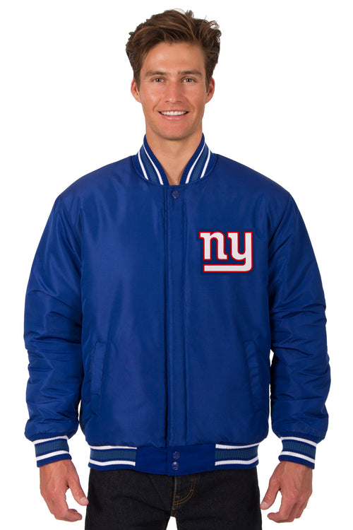New York Giants All-Wool Reversible Jacket (Front Logos Only)